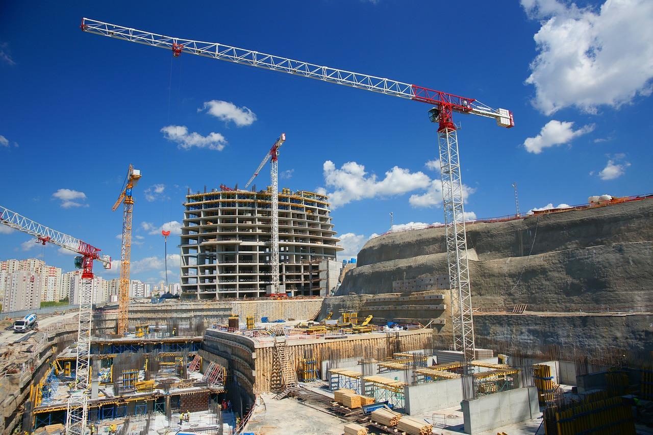 construction, building, crane